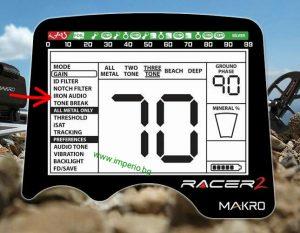 Iron Audio на металотърсачът Makro Racer 2