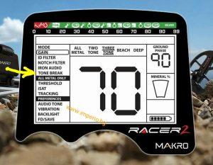 Tone Break на металотърсач Makro Racer 2