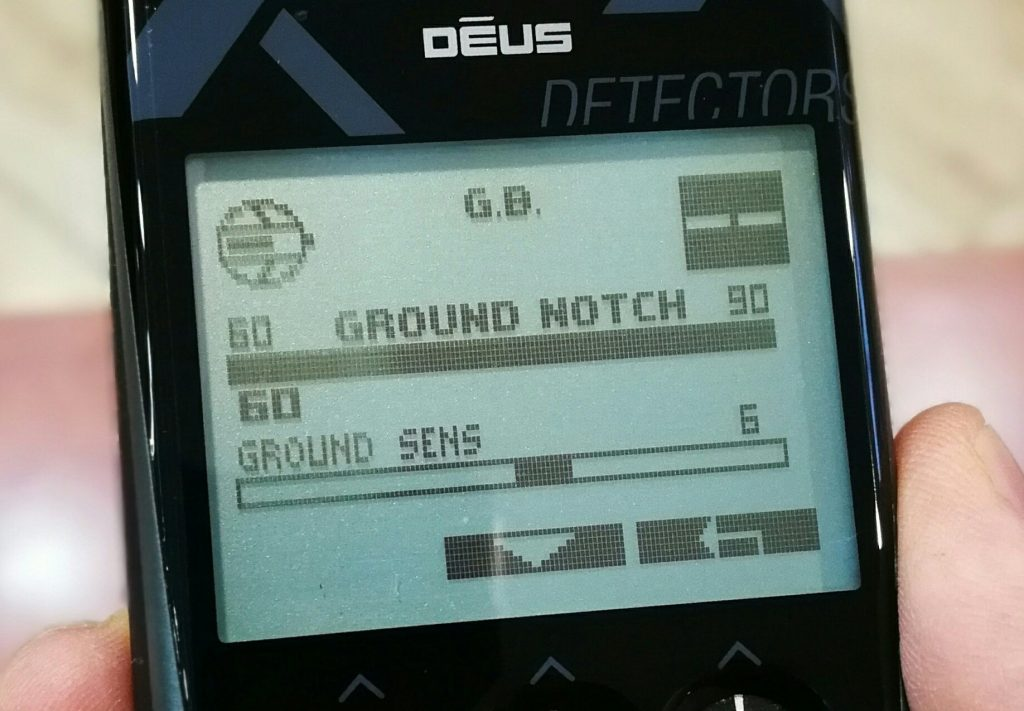 Ground Sensitivity е новост за софтуер V4. 1 на металотърсач XP DEUS